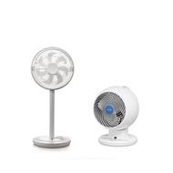 KAMOME|FKLT-281D 電風扇(白)+IRIS PCFC18T 空氣循環(白)(含遙控器) (組合)