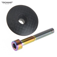 Romancity Road Mountain Bike Carbon Headset Stem Titanium Bolt