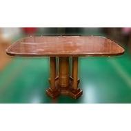 二手家具推薦【宏品二手家具】全新二手傢俱買賣E120704*實木餐桌*2手桌椅拍賣 會議桌椅 戶外休閒桌椅 課桌椅