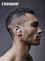 游泳耳機 游泳耳塞防水專業硅膠成人中耳炎洗澡裝備泳鏡俠 夢藝家