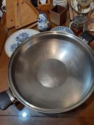 二手無蓋 40cm amway wok 安麗大炒鍋