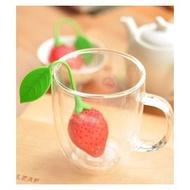 【雜貨店】草莓矽膠茶葉包 糖果過濾包 矽膠泡茶器 茶隔 茶葉篩檢 草莓濾茶器25元