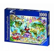 【德國Ravensburger】迪士尼的世界地圖1000片(維寶 經典拼圖)