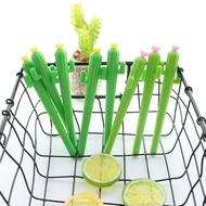 ใหม่ Kawaii Cactus Gel ปากกาการ์ตูนพืชสีเขียวสดปากกาสำหรับเขียนโรงเรียนนักเรียนของขวัญส่งเสริมการข...