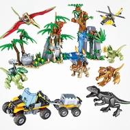 Dinosaur Canyon Dinosaur World  gift Building Blocks Jurassic Park Figures lego Jurassic Movie 690Pcs Jurassic World