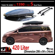 Taka Roofbox TK-420s Ultra Slim Design Glossy Roof box With Roof Rack