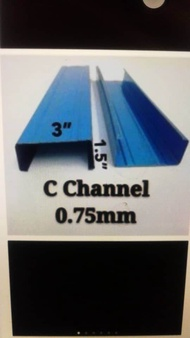 c section channel 0.75mm (6meter)before order chat and call us first