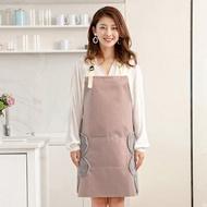 擦手圍裙女家用廚房做飯防水防油時尚可愛日系成人可調節圍兜