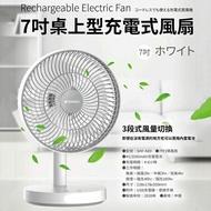 SANSUI 山水 SHF-K89 7吋桌上型充電式風扇 USB風扇 照明燈 電風扇 攜帶式 充電風扇 涼風扇 充電扇 電扇 風扇 桌扇 行動風扇【神腦貨】