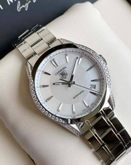 ( USED ) Tag Heuer มือสอง รุ่น Carrera White Pearl Dial Diamond Hrs. Auto