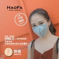 【HAOFA】口罩 平價 N95『3D 氣密型立體口罩』『活性碳成人款』五層 活性碳口罩 50入/包 台灣製造