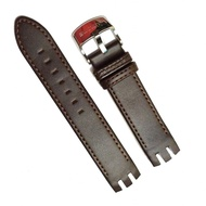 21mm Genuine Leather Watchband Soft Leather Strap For Swatch.