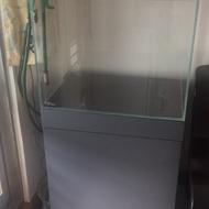 1尺半加高魚缸+木櫃