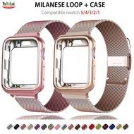 + สายสำหรับ Apple นาฬิกา6 Band 44มม.40มม.42มม.38มม.เข็มขัดโลหะสายใส่ข้อมือสร้อยข้อมือ Applewatch Series 5 4 3 SE
