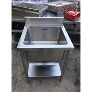 年強二手家具-厚料單口白鐵水槽*單口洗手台*單口洗碗槽*2尺白鐵水槽  91106247