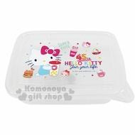 〔小禮堂〕Hello Kitty 方形透明塑膠保鮮盒《2款隨機.粉》餅乾盒.零食盒
