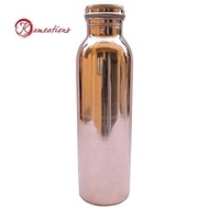 Copper Watter Bottle Copper utensils Kameations Copper Yoga Water Bottle or Thermos Flask [CBY]