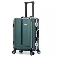 20''24Inch PC น้ำหนักเบากระเป๋าเดินทางสตรีกระเป๋าติดล้ออลูมิเนียมพกพา Spinner กระเป๋าเดินทางมีล้อสไตล์เรียบง่าย