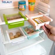 4 ชิ้นสไลด์ครัวตู้เย็นตู้แช่แข็ง S Aver พื้นที่องค์กรชั้นเก็บ