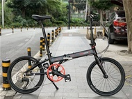 Gaotelu Foldable Bicycle 9-Speed 20 Inch Assembly Aluminum Alloy Small Wheel Men's And Women's Bicycle Adult Portable Car