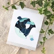 [親手製作]手工雕刻客製化卡片/文青卡片/雲朵漸層風格/客製化卡片