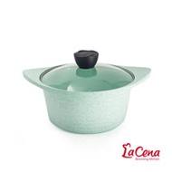 【韓國LaCena】翡翠陶瓷不沾湯鍋22cm(附蓋)