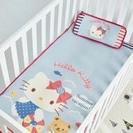 【les enphants(麗嬰房)】嬰兒冰絲涼席+枕頭組-夏日假期Hello Kitty
