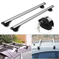 HARDCASTLE 130CM AERO CAR ROOF BARS ALUMINIUM LOCKABLE/LOCKING SILVER CROSS BARS