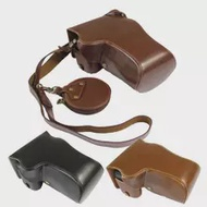 Luxury PU Leather Case for Canon EOS RP EOSRP EOS R-P Camera Bag Cover Shoulder Strap