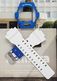 Genuine Casio G Shock Glossy White Straps and Blue Bezel for GR8900, GR8900A GLS8900 or GWX8900B