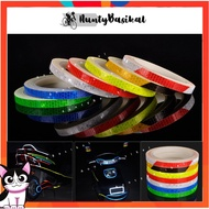 8M Bike Stickers Decals Reflective Stickers Strip Bicycle Reflective Tape Sticker Bicycle Accessories