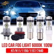 19D Driving Bulb Fog Lamp H7 H11 Auto Bulbs 100W LED Durable