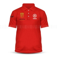 Dry Fit Yamaha Tech3 Monster Polo T Shirt MotoGP Motorcycle Motosikal Superbike Racing Team Casual 125Z RXZ TZM SRL Y15