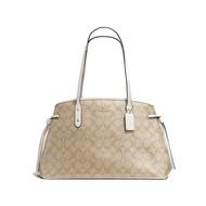 COACH F57842 奢侈品女款PVC拼接大號單肩手提戴妃包