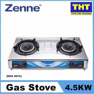 Zenne  4.5KW Gas Stove Double Burner KGS 401C