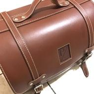 偉士牌 Vespa Piaggio SIP 真皮 行李箱 羅馬包 咖啡色 皮箱 後箱 全車系通用