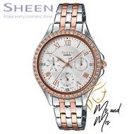 CASIO SHEEN นาฬิกาข้อมือผู้หญิง สายสแตนเลส รุ่น SHE-3062SPG-7AUDF