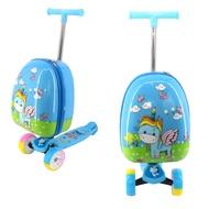 กระเป๋าเดินทางล้อลาก กระเป๋าเดินทางสกู๊ตเตอร์ กระเป๋าล้อลาก สำหรับเด็ก