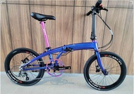 """!Ready Stocks! Glittering Galaxy Blue color with a tinge of Pink!!Crius Velocity 451 22"""" (10 speed with Shimano Tiagra, litepro plus wheelset and litepro hydraulic disc brake)"""