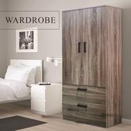 Td Furniture 2 Door Wardrobe Closet Storage Rak Almari Baju Almari Kayu Pakaian