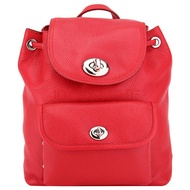 【COACH】F37581 Mini Turnlock Rucksack Backpack 小型 荔枝皮 後背包 (紅)