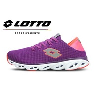 LOTTO樂得-義大利第一品牌 女款AIR FLOW-R 系列風動健走輕跑鞋 [5517] 紫橘【巷子屋】