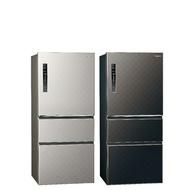 Panasonic國際牌610公升三門變頻鋼板冰箱 絲紋灰NR-C610HV-L / 絲紋黑NR-C610HV-V絲紋灰-L