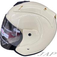 GP5 615 素色 幕斯白 R帽 半罩 內襯可拆 安全帽