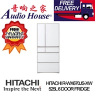 HITACHI R-WX670JS-XW 525L 6 DOOR FRIDGE  *** 1 YEAR HITACHI WARRANTY ***