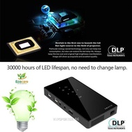 1080P 1+8G Home Theater HDMI P8I 4K Smart DLP Mini Projector Android 7.0 Quad-core WiFi Bluetooth