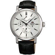 Orient Men Silver Dial Sapphire Crystal Leather Band Automatic Watch CEZ09004W