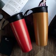 大容量600ml陶瓷內膽保溫杯 骨瓷保溫杯 戶外便攜車載茶水杯 帶提手大肚杯 隨手杯 手拿杯 咖啡保溫杯