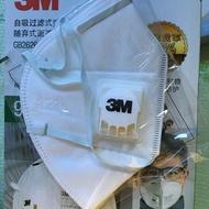 3M N90-9002V 成人款頭戴式有透氣閥口罩(5個一組)