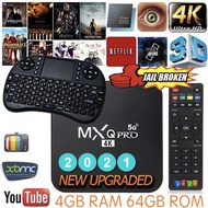 [ 1 YEAR WARRANTY ] Android 10.1 MXQ PRO 4K 5G Ultra HD Android TV Box MXQ PRO 4K 5G 2+16GB / 4G+32G RK3229 Quad-Core Android 10.1 Smart TV Android Box i8 Mini Bluetooth Smart Keyboard AirMouse Air Mouse
